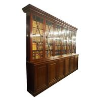 Large George III Style Mahogany 6 Door Cabinet Bookcase (2 of 17)
