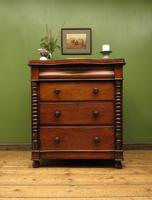 Antique Scottish Style Mahogany Chest of Drawers, Country House Chest (12 of 19)