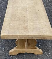 Bleached Oak Trestle End French Farmhouse Dining Table (18 of 22)