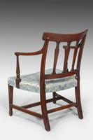 George III Period Mahogany Framed Elbow Chair (3 of 5)