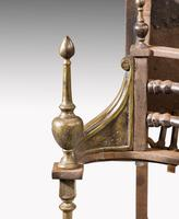 Attractive Late 19th Century Stainless Steel & Brass George III Style Dog Grate (5 of 6)