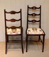 Pair of Beechwood Art Nouveau Chairs (9 of 10)