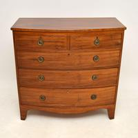 Antique Georgian Bow Fronted Mahogany Chest of Drawers (2 of 10)