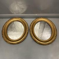 Pair of French Oval Gilt Mirrors (5 of 5)
