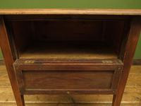 Small Rustic Antique Pine Table with Fall Front (9 of 17)