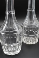 Attractive Pair of Early 19th Century Mallet Shaped Carafes (4 of 4)