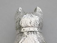 Victorian Novelty Silver Begging Dog Pepper by Thomas Johnson, London, 1878 (13 of 15)