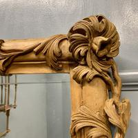 Large Carved Wood Overmantle Mirror (6 of 9)