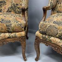 Pair of French Wing Armchairs (5 of 9)