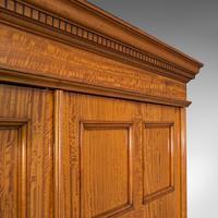 Antique Master Bedroom Wardrobe, Satinwood, Cupboard, Maple & Co, Edwardian (7 of 12)