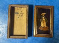 Victorian  Miniature Italian Sorrento Olive Wood Snuff Box (11 of 12)