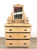 Antique Pine Dressing Table Chest with Drawers (7 of 11)