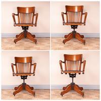 Good Quality Oak Revolving Office Desk Chair (14 of 14)