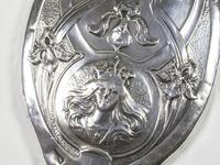 Chester Silver Art Nouveau Hand Mirror (3 of 4)