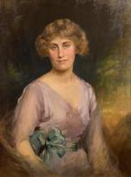 """Oil Painting by Edward Patry """"Portrait of Phyllis Pearce"""" (5 of 5)"""