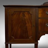 Antique Bow Front Sideboard, English, Mahogany, Dresser, Cabinet, Victorian (12 of 12)