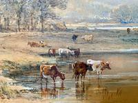 H Earp Senior - Set of Three Watercolours of cattle c1890 (7 of 7)