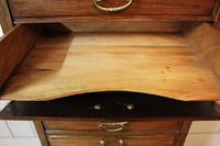 Edwardian Walnut Sheet Music Cabinet. Document Chest of Drawers (4 of 9)