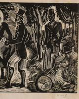 Figurers on a country lane by Kathleen Mary Bell (3 of 4)