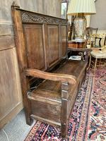 Late 18th Century Box Seated Oak Settle (19 of 19)