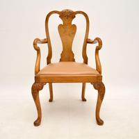 Antique Burr Walnut Dining Table & Chairs by Epstein (9 of 15)