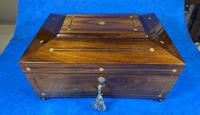 William IV Rosewood Box with Mother of Pearl Inlay (10 of 13)