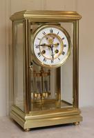 Bell Striking Brass Four Glass Clock (3 of 9)