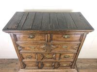 18th Century Antique Oak Chest on Stand (5 of 9)