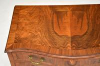 Antique Figured Walnut Serpentine Chest of Drawers (4 of 10)
