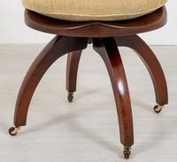 Victorian Mahogany Swivel Office Chair (2 of 8)