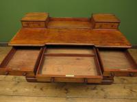 Antique Satin Birch Pedestal Desk by Heal & Sons (18 of 21)
