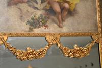 Very Tall Antique Giltwood Mirror with Oil Painting (9 of 12)