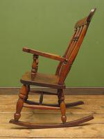 Antique Country Oak Rocking Chair with Nicely Aged Patina (6 of 14)