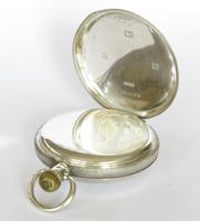 Antique Silver Waltham Traveler Half Hunter Pocket Watch (4 of 6)
