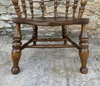 Antique Elm Captains Chair or Smokers Bow (12 of 14)
