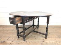 Antique Oak Gateleg Table (3 of 11)