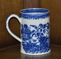 Late 19th Century Pearlware Cider Mug Decorated With Blue and White Chinoiserie (4 of 7)