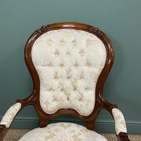 Stunning Mahogany Upholstered Antique Armchair (2 of 7)
