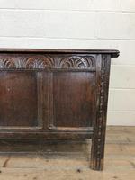 Antique Carved Oak Coffer (3 of 13)