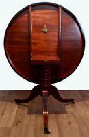 Fine quality Georgian mahogany tilt top dining table (9 of 9)