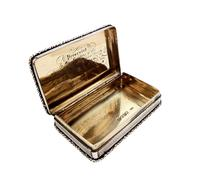 Antique Victorian Sterling Silver Snuff Box 1844 (2 of 10)