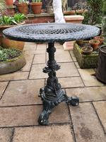Wonderful Set of Cast Iron Garden Table & Four Chairs (5 of 7)