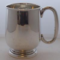 1933 Hallmarked Solid Silver 1/2 Half Pint Tankard Christening Mug E Viner (8 of 8)