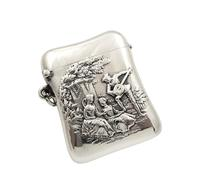Antique Victorian Sterling Silver Vesta 1899 – The Music Lesson (8 of 10)