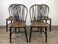 Set of Four 19th Century Ash and Elm Hoop Back Chairs (3 of 13)