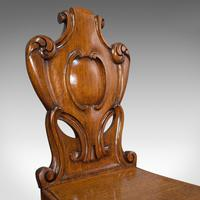 Pair of Antique Shield Back Chairs, Scottish, Oak, Hall Seat, Victorian c.1880 (11 of 12)