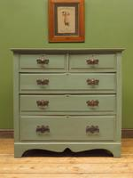 Antique Gustavian Style Blue Painted Chest of Drawers (2 of 18)
