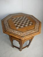 Indian Octagonal Folding Chess Top Table (5 of 8)