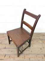 Set of Six Welsh Oak Farmhouse Kitchen Chairs with Bar Backs (8 of 9)