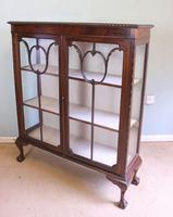 Antique Mahogany Glazed Display Cabinet (3 of 10)